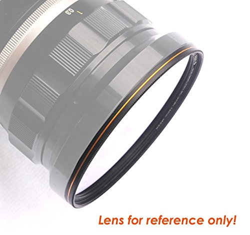 Fotasy 67mm Ultra Slim UV Protection Lens Filter, Nano Coatings MRC Multi Resistant Coating Oil Water Scratch, 16 Layers Multicoated 67mm UV Filter