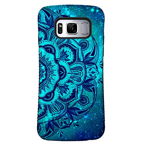 ZUSLAB Galaxy S8 Case, Pattern Design, Shockproof Armor Bumper, Heavy Duty Protective Cover for Samsung Galaxy S8 (Blue Mandala)