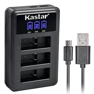 Kastar LCD USB Charger for GoPro HERO6, Hero 6 Black, Gopro6 and GoPro AHDBT-601, AHBBP-601 Sport Camera