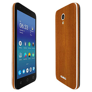 Alcatel Cameo X Screen Protector + Light Wood Full Body, Skinomi TechSkin Light Wood Skin for Alcatel Cameo X with Anti-Bubble Clear Film Screen