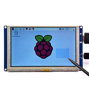 GeeekPi 5 inch HDMI Monitor LCD Resistive Touch Screen 800x480 LCD Display USB Interface for Raspberry Pi 4 Model B, Pi 3/2 Model B/B+ & Banana Pi (Plug and Play Free Driver)