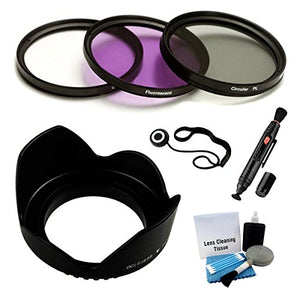 Ultrapro 40.5mm Premium Filter Kit (Uv, Cpl, Fld) & Lens Hood Bundle For Select Sony Digital Cameras