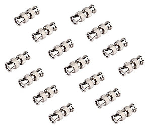BeElion 15-Pack BNC Male to Male Coaxial Coupler Straight Adaptor Connector M/M
