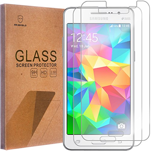 Mr.Shield [2 Pack] For Samsung Galaxy Grand Prime [Tempered Glass] Screen Protector With Lifetime Re