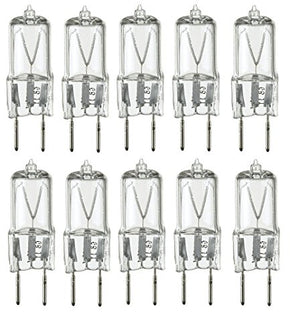 10Pack - 20 Watt Xenon G8 120V T4 Light Bulbs G8 Base 120 Volt JCD Type