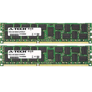8GB KIT (2 x 4GB) for Dell Precision Workstation Series R5500 Rack T5600 T7500 T7600. DIMM DDR3 ECC Registered PC3-10600 1333MHz Dual Rank RAM Memory. Genuine A-Tech Brand.
