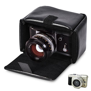 Yosoo Camera Storage Case, PU Leather Shockproof with Insert Padded Black for DSLR Camera 4.7 3.9 5.9 Inch