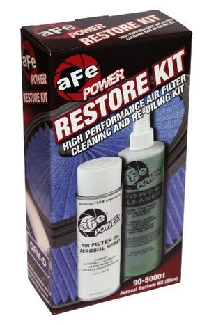 aFe Power MagnumFLOW 90-50001 Air Filter Restore Kit (Single, Blue) by aFe