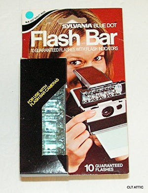 Sylvania Blue Dot Flash Bar, 10 Guarenteed Flashes with Flash indicators