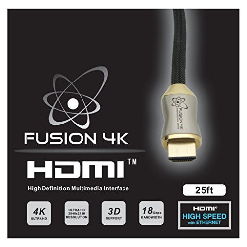 Fusion4K High Speed 4K HDMI Cable (4K @ 60Hz) - Professional Series (25 Feet)