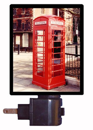 Telephone Booth Night Light, English Phone Booth