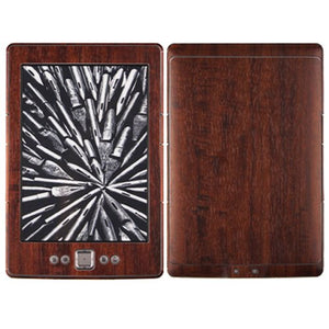 Skinomi Dark Wood Full Body Skin Compatible with Amazon Kindle (2012)(Full Coverage) TechSkin with Anti-Bubble Clear Film Screen Protector