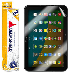 DeltaShield Screen Protector for Verizon Ellipsis 10 (2015)(2-Pack) BodyArmor Anti-Bubble Military-Grade Clear TPU Film