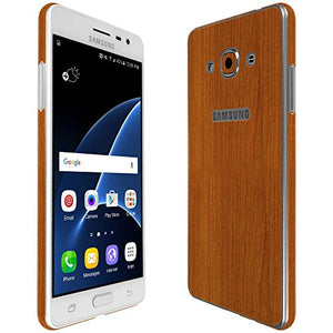 Skinomi Light Wood Full Body Skin Compatible with Samsung Galaxy J3 Pro (Full Coverage) TechSkin with Anti-Bubble Clear Film Screen Protector