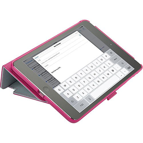Speck Products StyleFolio Case for iPad Mini/2/3 - Fuchsia Pink/Nickel Grey (Does not fit iPad mini 4)