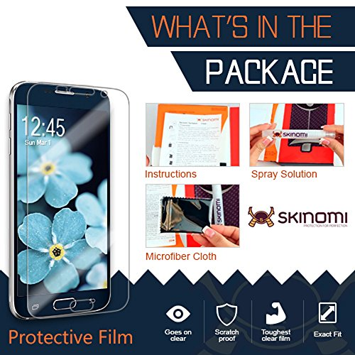 Skinomi Screen Protector Compatible with Pebble E-Paper Smartwatch (6-Pack) Clear TechSkin TPU Anti-Bubble HD Film