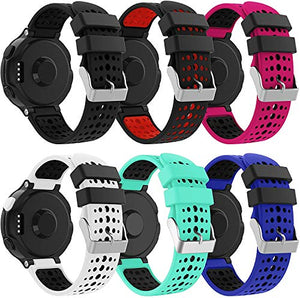 YSSNH Silicone Band Compatible Forerunner 235, Lightweight Waterproof Strap Replacement for Garmin Forerunner 220/230/235/620/630