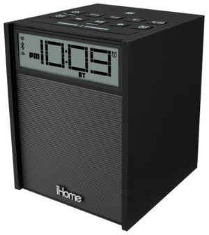 Sound Design iHome IBN180B Rubberized NFC Bluetooth Dual Alarm FM Clock Radio with USB Charging/Aux-In, Black (Discontinued by Manufacturer)