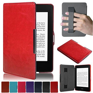 Artyond Kindle Paperwhite Case,The Thinnest and Lightest PU Leather with Auto Wake/Sleep Feature Smart Case for Amazon Kindle Paperwhite (Fits All 2012, 2013, 2015 and 2016 Versions) (Bright red)