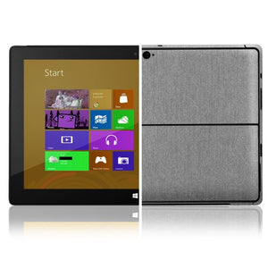 Skinomi Brushed Aluminum Full Body Skin Compatible with Microsoft Surface Tablet Windows 8 Pro (Full Coverage) TechSkin with Anti-Bubble Clear Film Screen Protector
