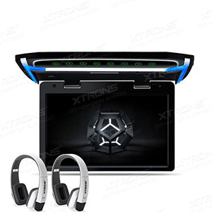 XTRONS 10.2 Inch Digital TFT Screen 1080P Video Car Overhead Player Roof Mounted Monitor HDMI Port White New Version IR Headphones
