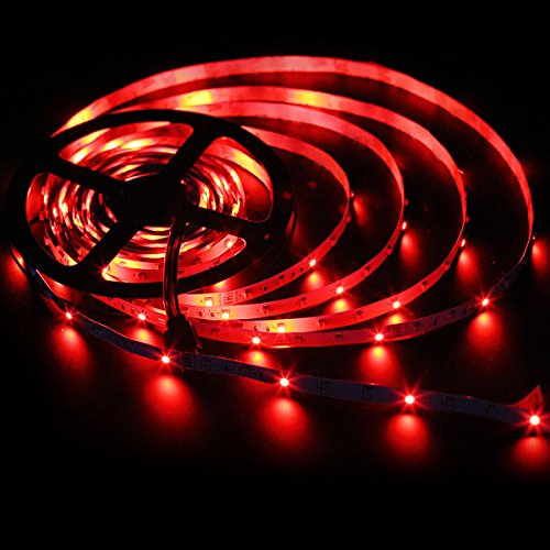 SUPERNIGHT 5M/16.4 Ft SMD 3528 RGB 300 LED Color Changing Kit with Flexible Strip Light+44 Key IR Remote Control+ Power Supply
