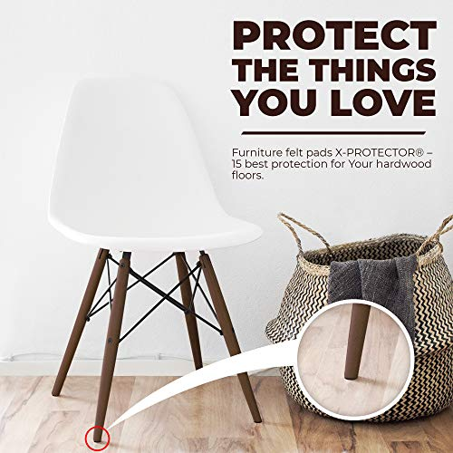 X-PROTECTOR Premium Ultra Large Pack Felt Furniture Pads 181 Piece! Felt Pads Furniture Feet All Sizes - Your Best Wood Floor Protectors. Protect Your Hardwood Flooring with 100% Satisfaction!