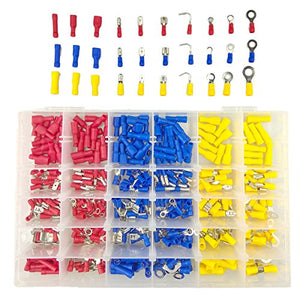 TuhooMall 480 PCS Mixed Quick Disconnect Electrical Insulated Solderless Crimp Terminals Connectors