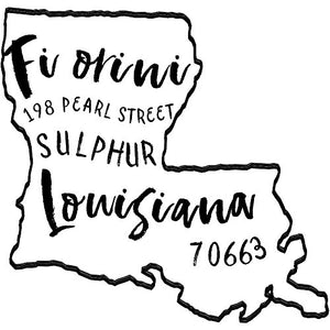 Louisiana Return Address Stamp - State of Louisiana Self Inking Stamp