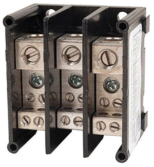 SQUARE D BY SCHNEIDER ELECTRIC 9080LBA361104 POWER DISTRIBUTION BLOCK, 3POS, 14-2AWG
