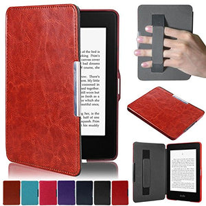 Artyond Kindle Paperwhite Case, Crazy Horse Pattern PU Leather Case [Hand Strap Holder] Smart Magnetic Soft Case For Amazon Kindle Paperwhite 1 2 3(Fits All 2012, 2013, 2015 and 2016 Versions) (brown)