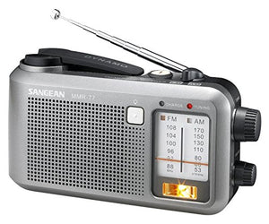 Sangean Compact Emergency Water-Resistant Hand Crank AM/FM Radio with Built-in Speaker