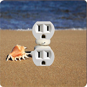Rikki Knight 3739 Outlet Pebbles & Shell On Sand Design Outlet Plate