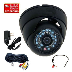 VideoSecu 600TVL Infrared Day Night Vision Outdoor Home Security Camera Vandal Proof Built-in 1/3