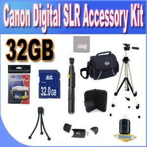 Digital SLR Camera 32GB SDHC Deluxe Accessory Saver Kit.