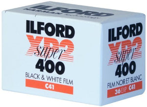 5 X Ilford XP-2 Super 400 135-36 Black & White Film