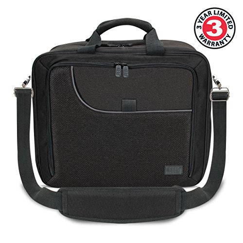 USA Gear Electronics Travel Organizer Tech Bag Case Custom Accessory Storage Compartments, Adjustable Shoulder Strap & Padded Interior - Works w/Tablets, Travel Projectors & More