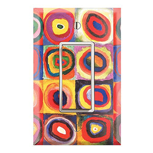 Graphics Wallplates - Farbstudie Quadrate by Wassily Kandinsky - Single Rocker/GFCI Outlet Wall Plate Cover