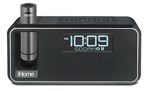 iHome iKN105BC Dual Charging Bluetooth Stereo Alarm Clock Radio/Speakerphone with NFC, Removable Power