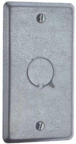 Steel City 58C6 Utility Device Cover, Raised, 4-Inch Length by 2-1/8-Inch Width, Galvanized, 25-Pack
