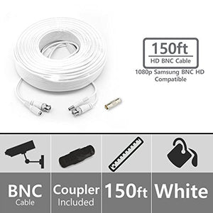 (Set of 10) STS-FHDC150 - 150ft Premium 1080p HD BNC Video Cable. Samsung Compatible with Systems SDH-C75100, SDH-C75080, SDH-B73040, SDH-B73045,SDH-B74041, SDH-B74081