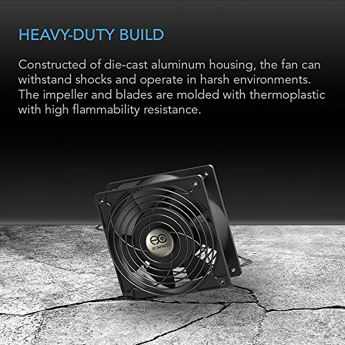 AC Infinity AXIAL 1225, Quiet Muffin Fan, 115V 120V AC 120mm x 25mm Low Speed, for DIY Cooling Ventilation Exhaust Projects