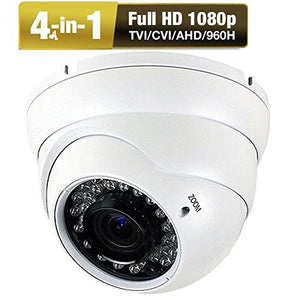 Amview HD Ture HD1080P 2.8MP 4-in-1 (TVI AHD CVI 960H) 2.8-12mm Varifocal Zoom 36IR LEDs CCTV Surveillance Security Camera