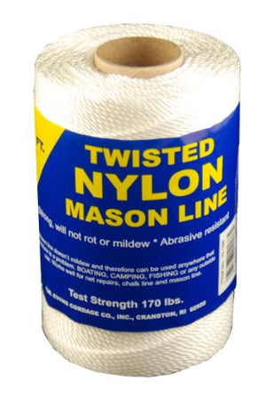 T.W Evans Cordage 10-249 Number-24 Twisted Nylon Mason Line, 625-Feet