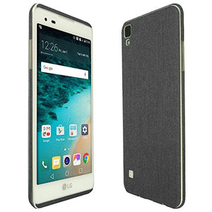 Skinomi Brushed Steel Full Body Skin Compatible with LG Tribute HD (LS676, Boost Mobile, Virgin Mobile)(Full Coverage) TechSkin with Anti-Bubble Clear Film Screen Protector