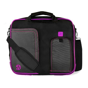 (Plum) Shoulder Bag For HP Pavilion, Stream, Split, X2, X360, EliteBook, ChromeBook, 11 to 13.3 inch Laptops