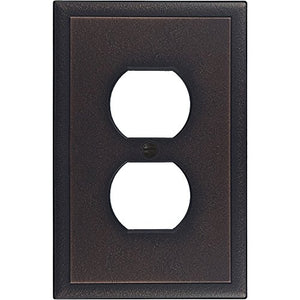 Questech Ambient Satin Metal Composite Switch Plate/Wall Plate/Outlet Cover (Single Duplex, Oil Rubbed Bronze)