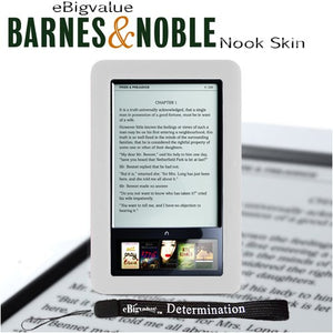 Slim Durable TPU Skin Case Made for Barnes and Noble Nook eBook Reader (Transparent Clear) and Includes a 4 inch eBigvalue Determination Hand Strap