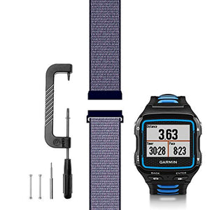 C2D JOY Compatible with Garmin Forerunner 920XT Band Replacement (Pins and Pin Removal Tool) Sport Mesh Strap for Garmin 920XT Accessory Watch Bands Nylon Weave Watchband - 09#, L/6.7-9.5 in.
