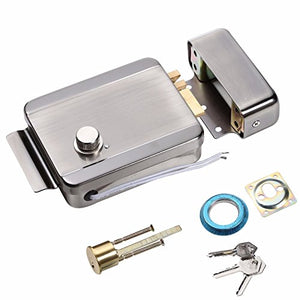UHPPOTE Electric Door Anti-Theft Control Release Rim Lock Fail Secure Stainless Steel